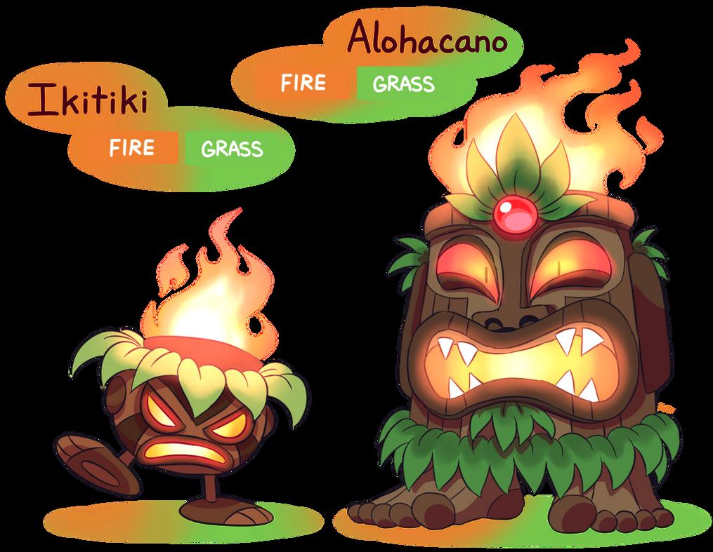 Fakemon Ikitiki Alohacano By Master Rainbow On Deviantart