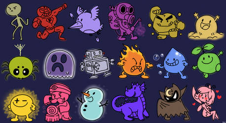 The 18 Pokemon Types - CARTOONIFIED CARICATURES