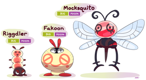 FAKEMON: Riggdler, Fakoon, Mocksquito