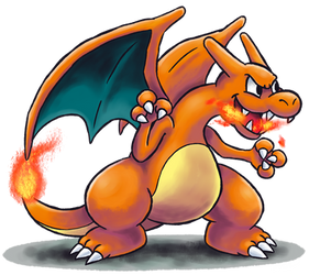 ''Mario+Luigi'' RPG Style: Charizard by Mast3r-Rainb0w