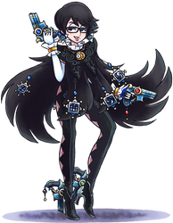 ''Mario+Luigi'' RPG Style: Bayonetta by Mast3r-Rainb0w