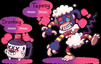 FAKEMON: Dronkey, Tapesy by Mast3r-Rainb0w