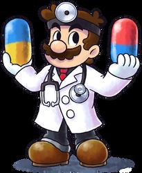 ''Mario+Luigi'' RPG Style: Dr. Mario by Mast3r-Rainb0w