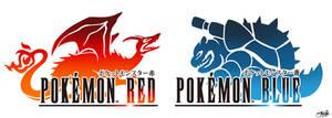 Final Fantasy Logo Art: Pokemon Red and Blue
