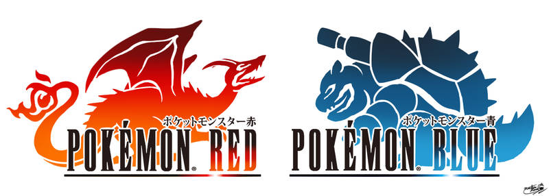 Final Fantasy Logo Art: Pokemon Red and Blue