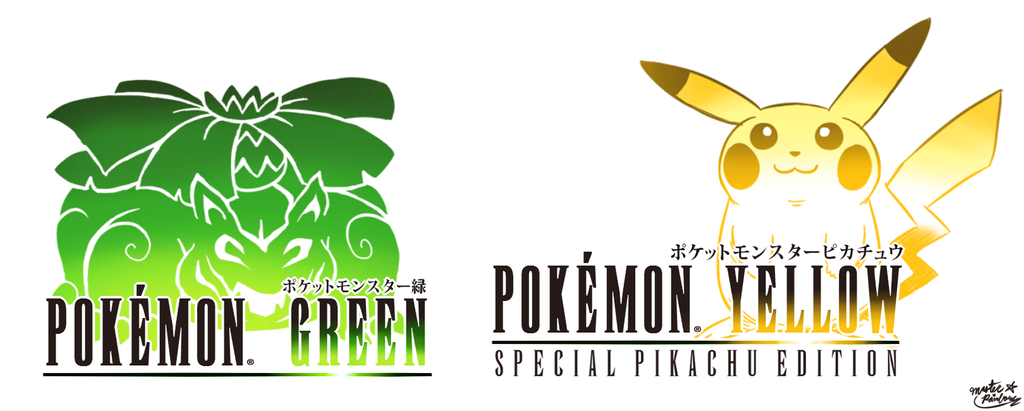 Final Fantasy Logo Art: Pokemon Green and Yellow by MAST3R-RAINB0W