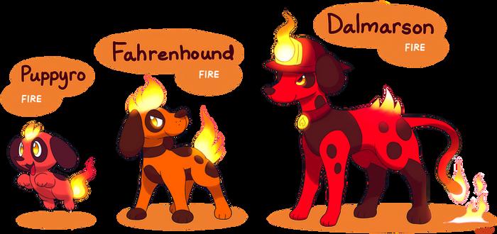 FAKEMON: Puppyro, Fahrenhound, Dalmarson