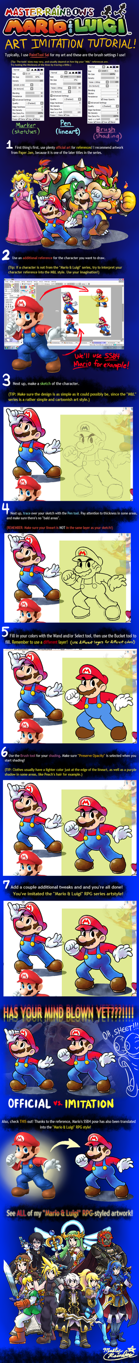 'Mario+Luigi' RPG ART IMITATION TUTORIAL by Master-Rainbow