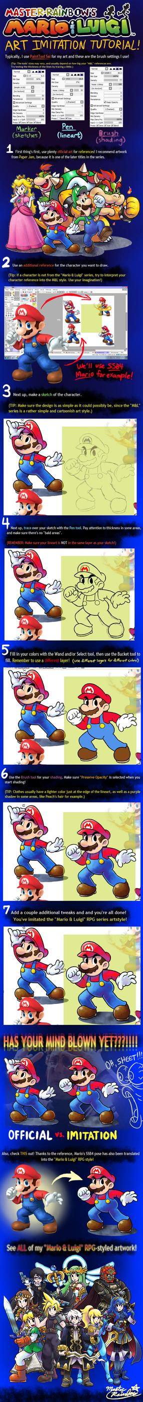 'Mario+Luigi' RPG ART IMITATION TUTORIAL by Master-Rainbow