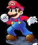 ''Mario+Luigi'' RPG Style: Mario [SSB4 Pose]