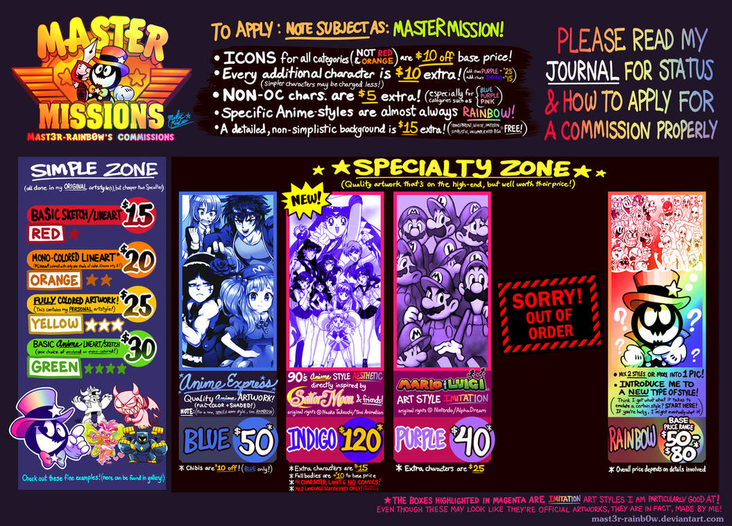 Mastermissions! (Commission Offers) CHECK 4 STATUS