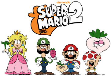 ''LOUD HOUSE'' Style: Super Mario Bros. 2! by Mast3r-Rainb0w