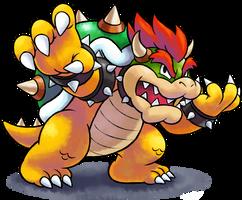 ''Mario+Luigi'' RPG Style: Bowser [SSB4 Pose]