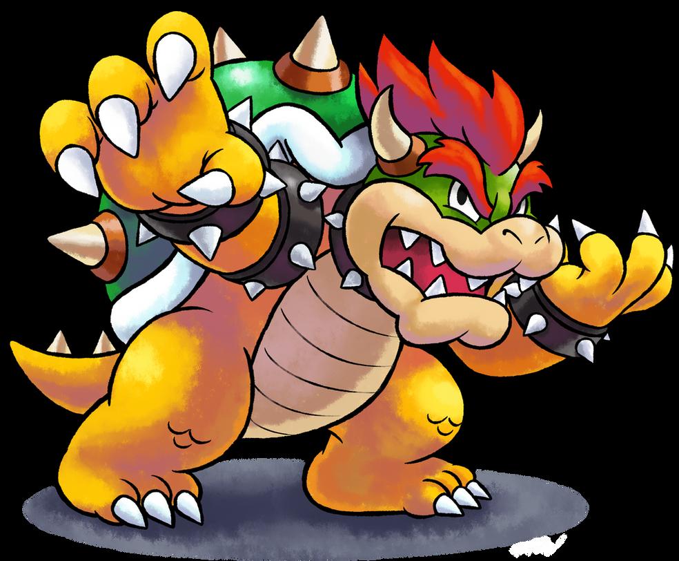 ''Mario+Luigi'' RPG Style: Bowser [SSB4 Pose] by MAST3R-RAINB0W
