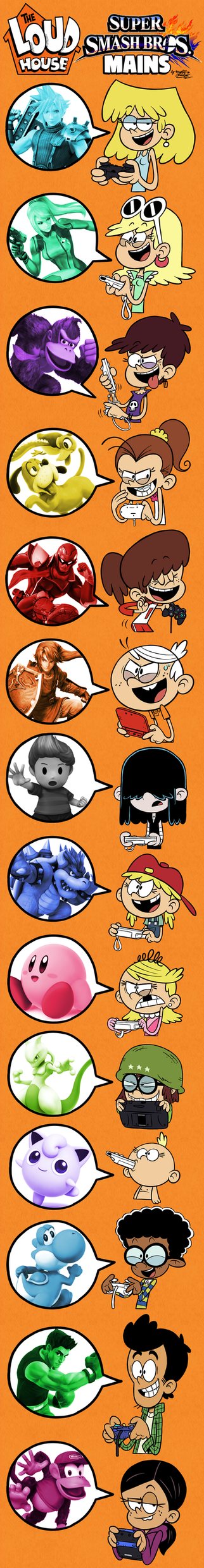 THE LOUD HOUSE and their SMASH BROS. Mains! by Master-Rainbow