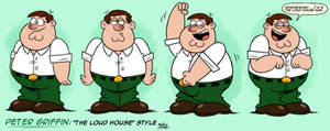 ''LOUD HOUSE'' Style: Peter Griffin (Family Guy)