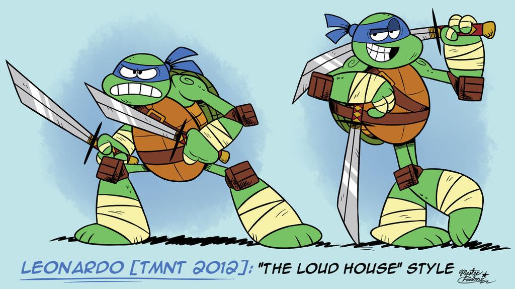 Mm Loud House Style Leonardo Tmnt 2012 By Mast3r Rainb0w