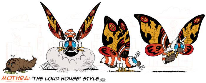 [MM] ''LOUD HOUSE'' Style: MOTHRA (Kaiju) + Larva!