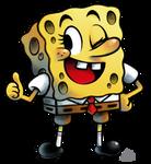 Spongebob Squarepants in 'Mario + Luigi' RPG Style