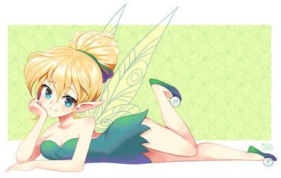 Cute Anime Style Tinkerbell by Mast3r-Rainb0w