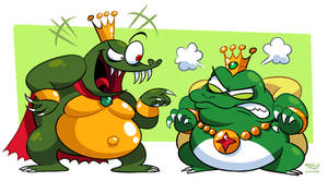Meanest Greenest Nintendo Kings (K. Rool + Wart)