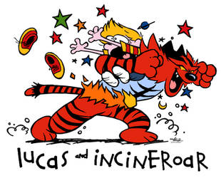 Lucas and Incineroar ['Calvin and Hobbes' PARODY] by Mast3r-Rainb0w
