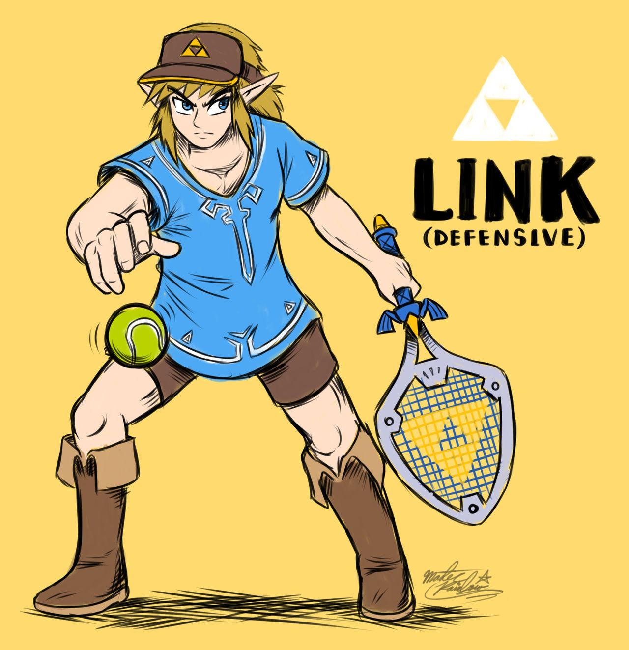 Link in Mario Tennis Aces [FAN CONCEPT] by Mast3r-Rainb0w