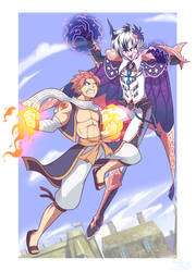 [C] 'ANIME' Style: Natsu D. vs. King Azrael (OC)