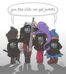 Join the club. We got jackets. (RIP Dante/Shantae)