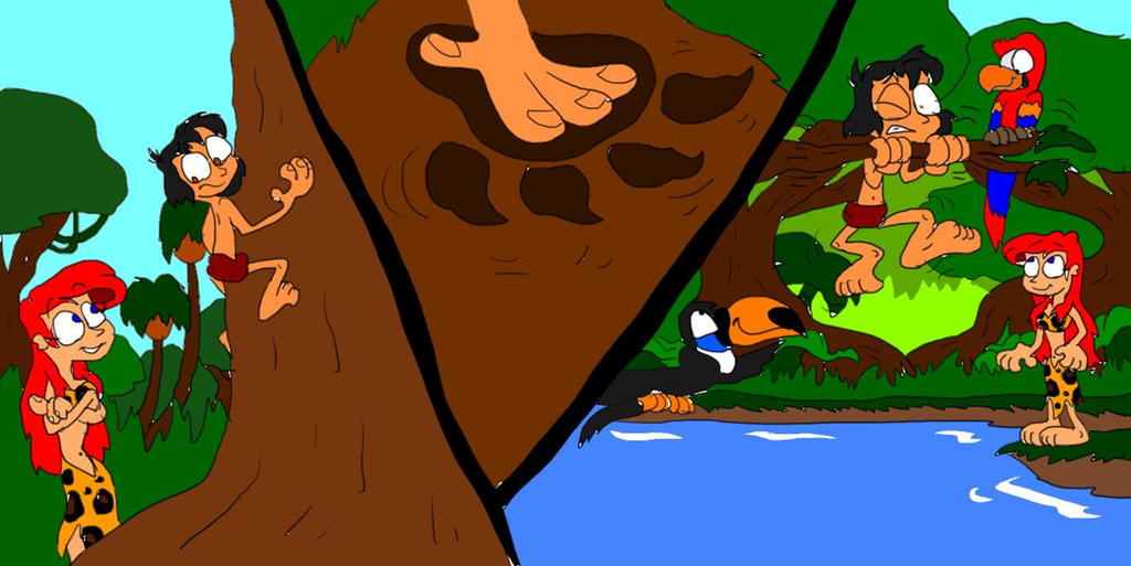 Pubg Fanart By Rei Kaa On Deviantart: Ariel And Mowgli: Jungle Survival 101 By SammyD