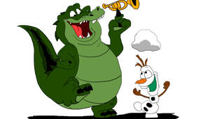Olaf and Louis the Gator by SammyD-Productions