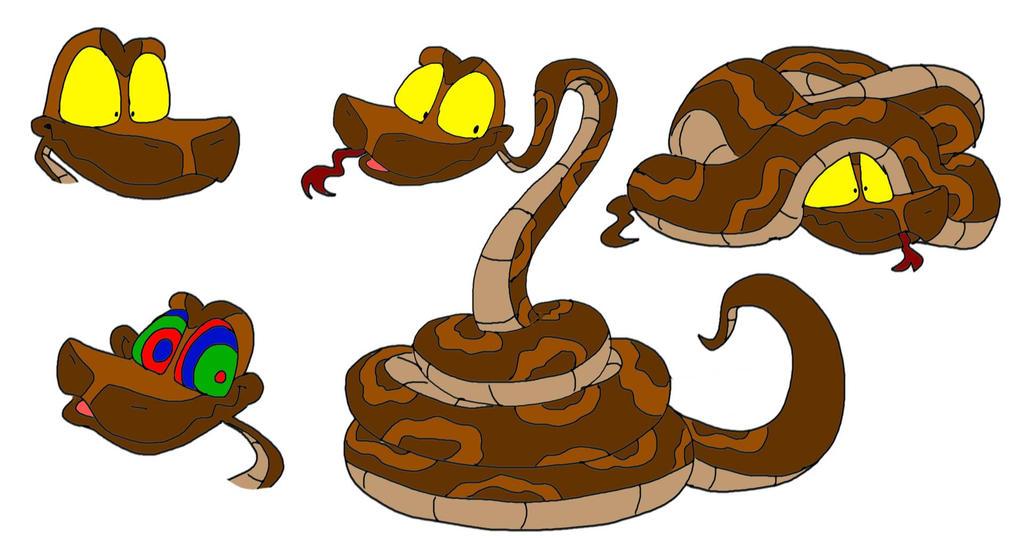 Tony the Python (redraw) by SammyD-Productions