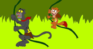 Chuck and Prowler's Jungle Swing by SammyD-Productions