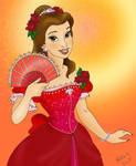 Belle the flower girl