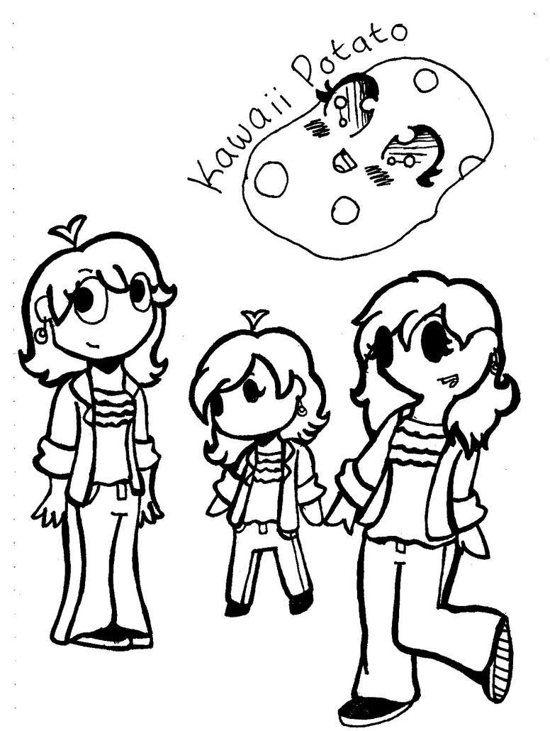 Kawaii Potato by Jeezica