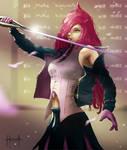 No More Killing - Battle Academia Katarina by GlofernWolfe