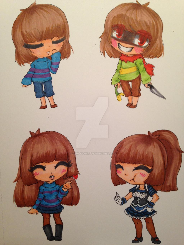 frisk and chara chibi doodles by d2dm fanfic on deviantart