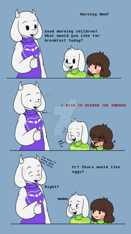 what chara eats for breakfast by d2dm fanfic on deviantart