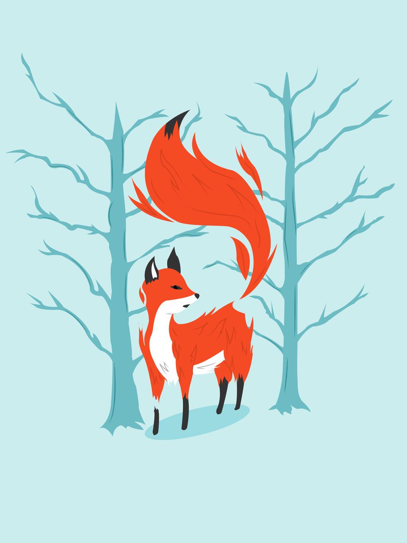 Winter Fox by KSheehan77