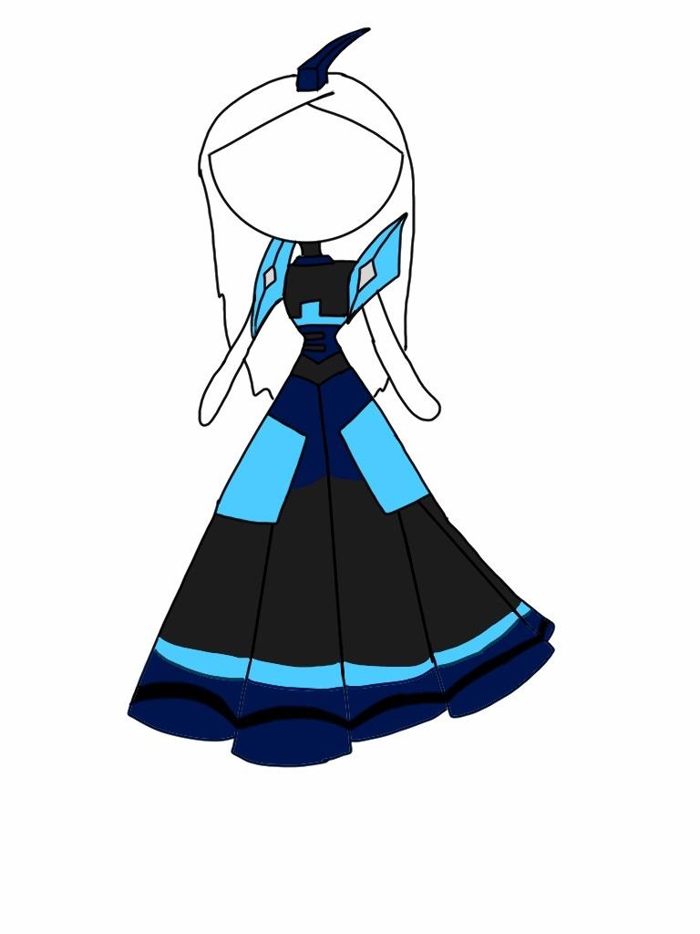 Blur theme dress by foxy21a72
