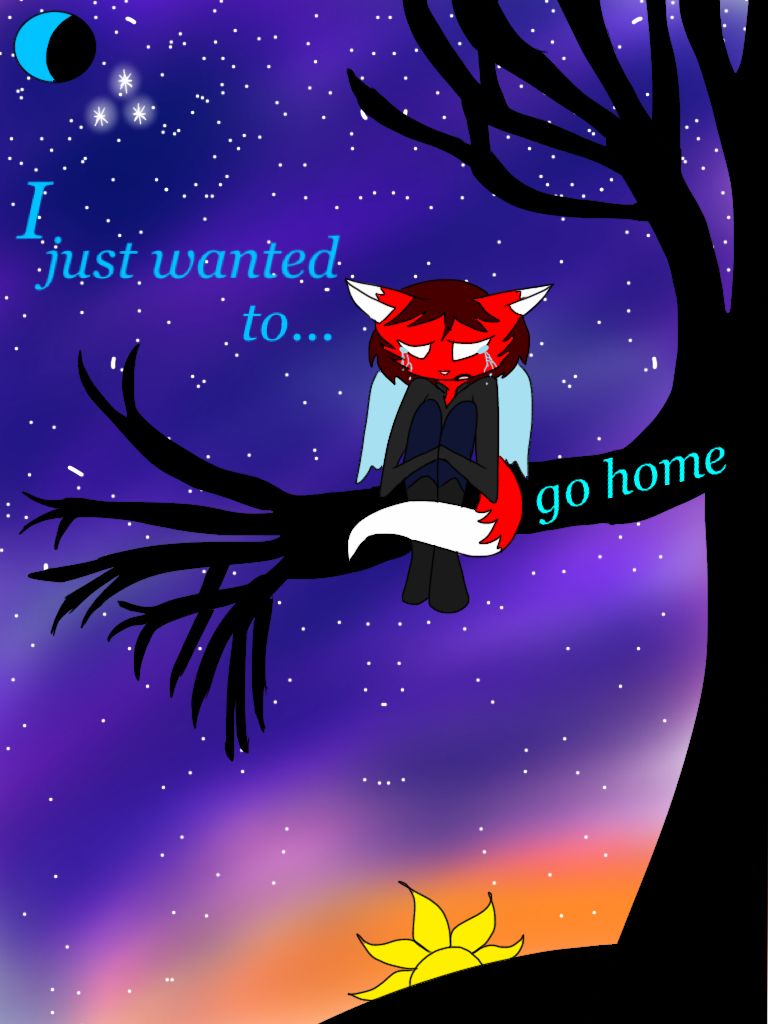 I wanted to go home  by foxy21a72