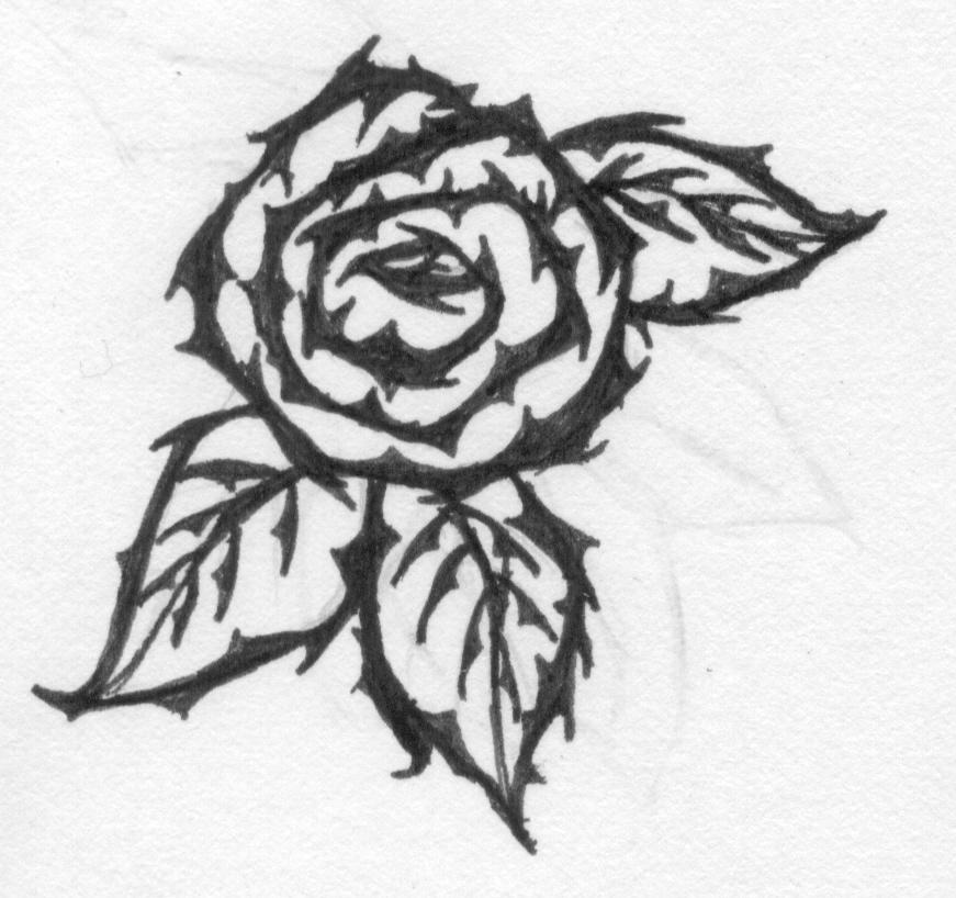 Rose thorn tattoo by icephantomayori on deviantart for Rose with thorns tattoo