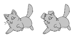 Chibi Kitten Puppy Base - F2U by Master-Crimmy