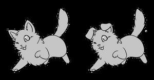 Chibi Kitten Puppy Base - F2U