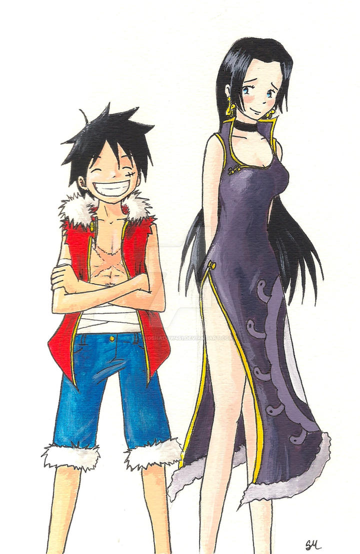Luffy and boa hancock 3d2y by flyingshadow451 on deviantart - One piece luffy x hancock ...