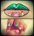 Vegan, vegetarian nails and lips