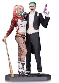 SUICIDE SQUAD - Harley Quinn and Joker statue