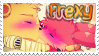 FNAF | Stamp | I Support Freddy x Foxy by Myebi