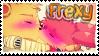 FNAF | Stamp | I Support Freddy x Foxy by Myebi