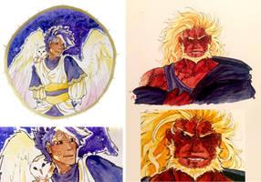 DMS | Angel . Mercenary | Watercolor by Myebi